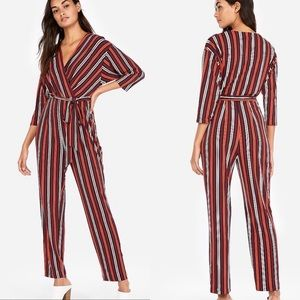 Express Striped Tie Jumpsuit